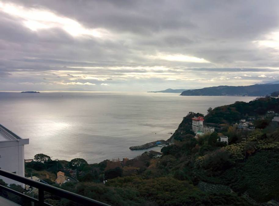 Pemandangan Samudera Pasifik dari dalam hotel.